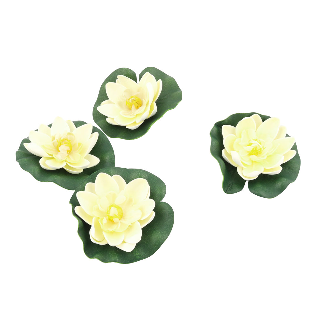 Home Restaurant Fish Tank Aquarium Simulation Lotus Decor 10cm Dia. 4pcs