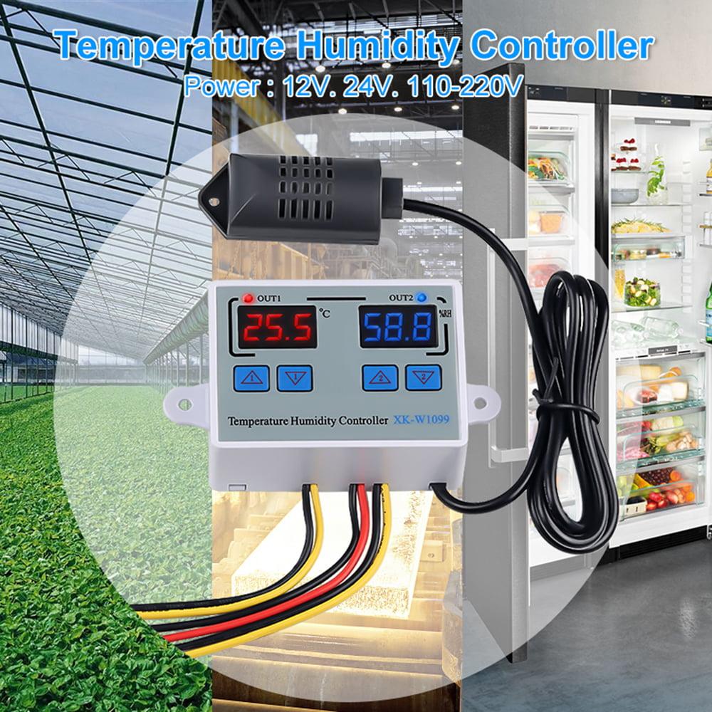 Pandiki Digital Temperature Humidity Controller Regulator Thermostat Hygrostat Thermometer Hygrometer Control
