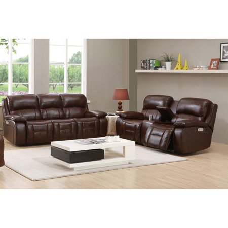 Amax Leather Westminster II Top Grain Leather Power Reclining Sofa and Loveseat