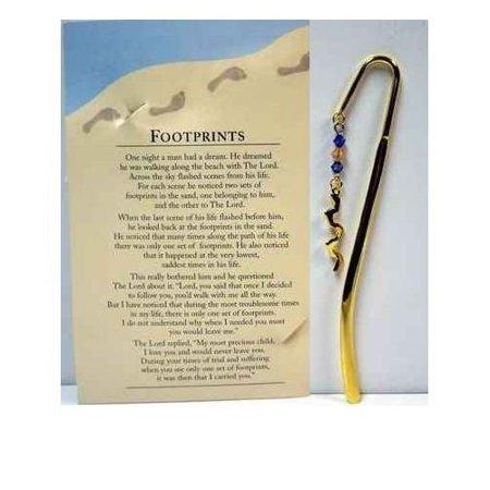 Footprints in the Sand Metal Crook Staff Bookmark (Staff Bookmark)