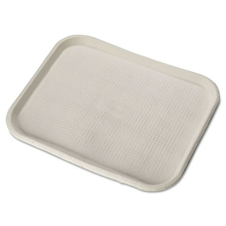 Chinet 20804 Savaday Molded Fiber Food Trays, 14 X 18, White, Rectangular, 100/carton