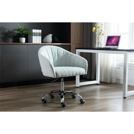 Cute Swivel Shell Chair Desk Chair Adjustable Desk Chair, Swivel Drafting Work SPA Medical Task Chair with Wheels, Mid-Back Adjustable Swivel Vanity Chair