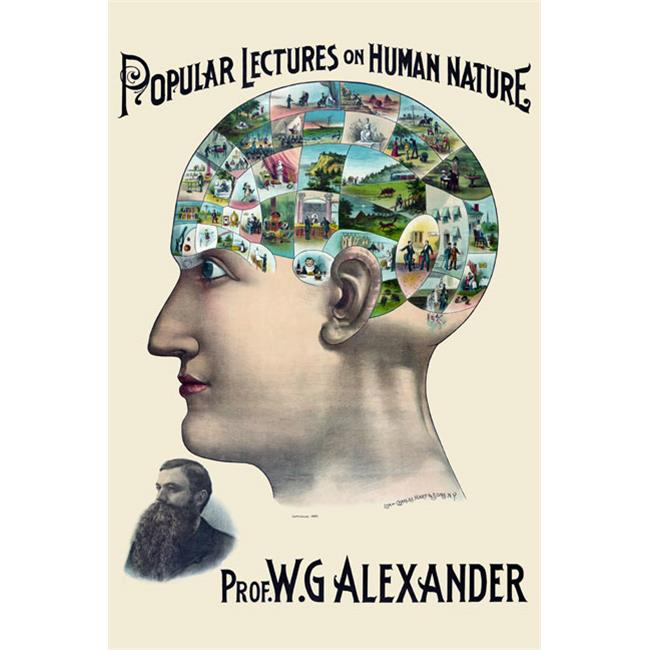 Buy Enlarge 0-587-23710-4P12x18 Popular lectures on human nature- Paper Size P12x18