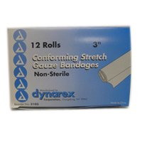Conform Stretch Gauze Bandages  Non Sterile 3 Inches X 4 1 Yards   12 Rolls