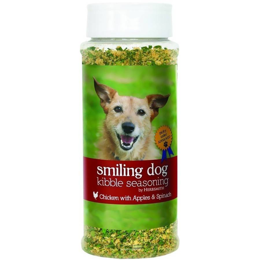 Herbsmith Smiling Dog Kibble Seasoning, Chicken with Apples and Spinach, Large