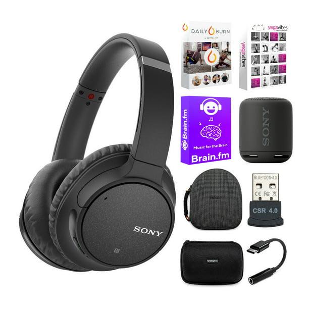 Sony WH-CH700N Wireless Noise-Canceling Headphones (Black) and Speaker Bundle