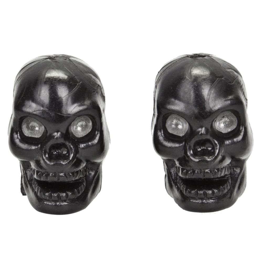 Trick Top Valve Caps Skull Only Black