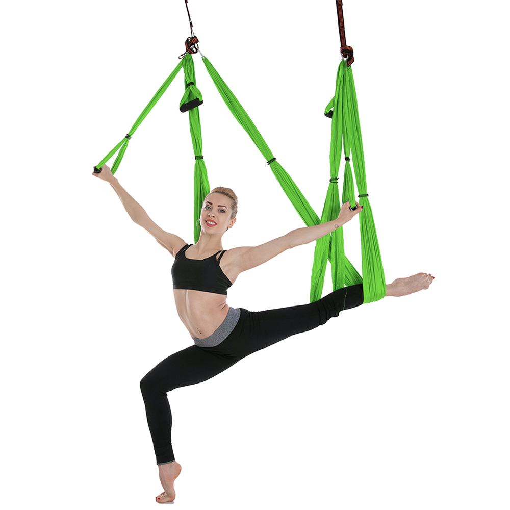 Fitness & Body Building Yoga Hammock Aerial Yoga Trapeze Inversion Training Sling Anti Gravity Exercise Training Yoga Swing Extension Strap To Adopt Advanced Technology