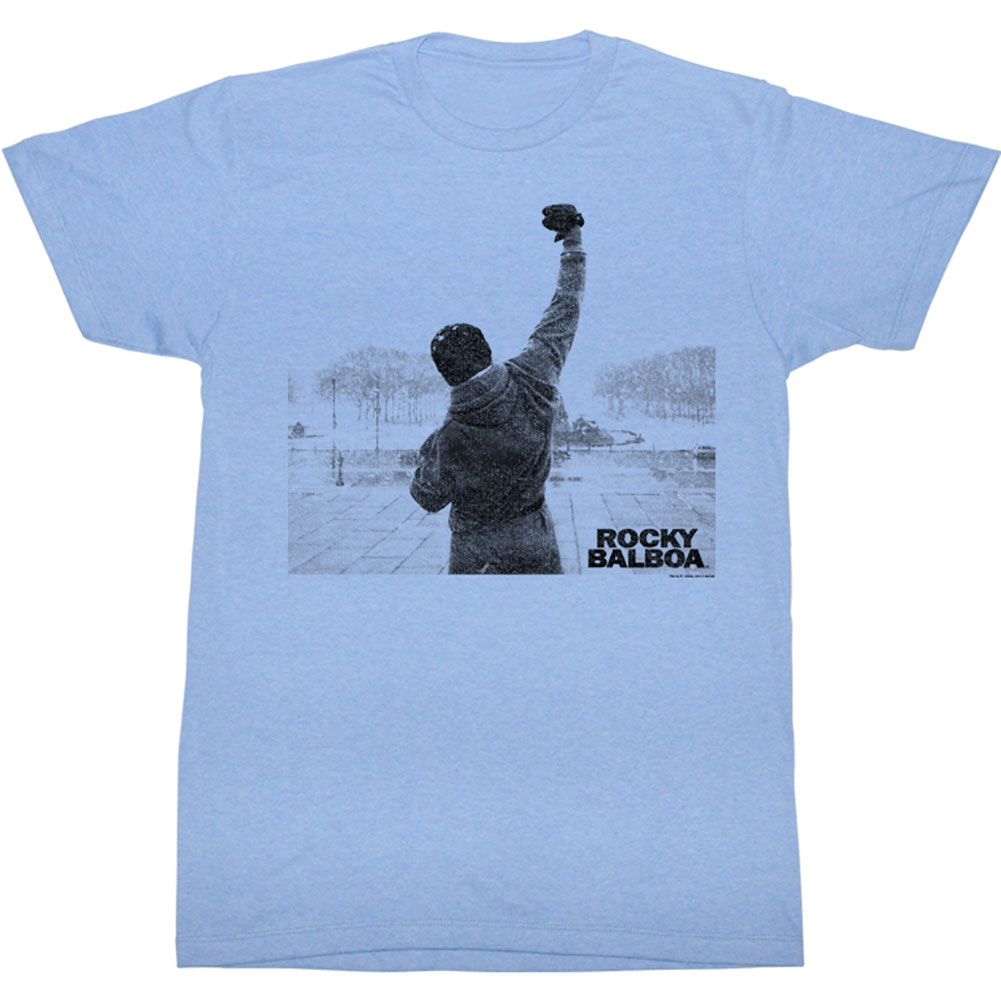 Rocky Men's  Balboa Victory Slim Fit T-shirt Light Blue Heather