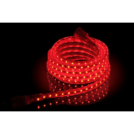 - CBConcept UL Listed, 20 Feet,Super Bright 5400 Lumen, Red, Dimmable, 110-120V AC Flexible Flat LED Strip Rope Light, 360 Units 5050 SMD LEDs, Indoor/Outdoor Use, [Ready to use]