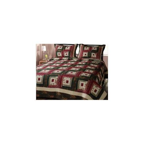Ko & Co CH9035- KING Cabin Hearth Cotton Patchwork Quilts - King