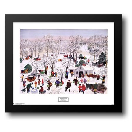 - Sugaring Off, 1955 33x27 Framed Art Print by Robertson Moses (Grandma Moses), Anna Mary