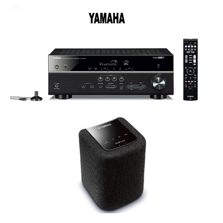 yamaha expandable audio video component receiver black. Black Bedroom Furniture Sets. Home Design Ideas