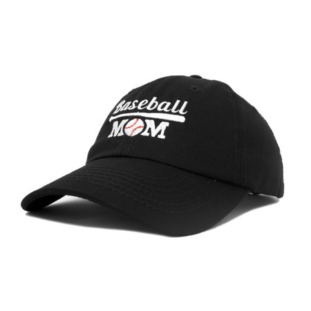 DALIX Baseball Mom Women's Ball Cap Dad Hat for Women in Black](Ball Cap With Lights)