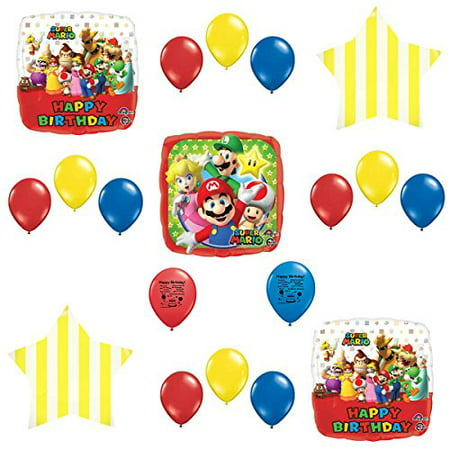 Super Mario Bros Party Supplies Balloon Decoration - Super Mario Bros Decorations