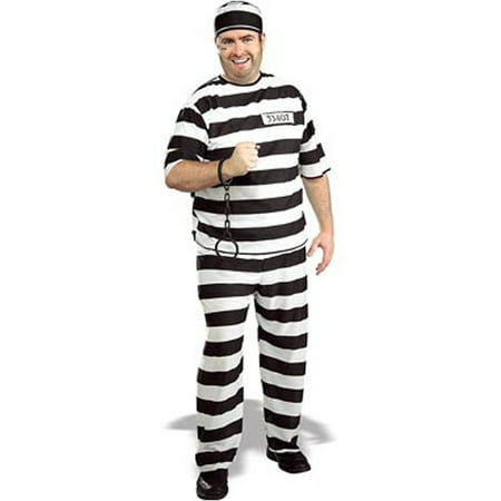 Adult Prisoner / Convict Costume Rubies 888433 - Prison Convict Costume
