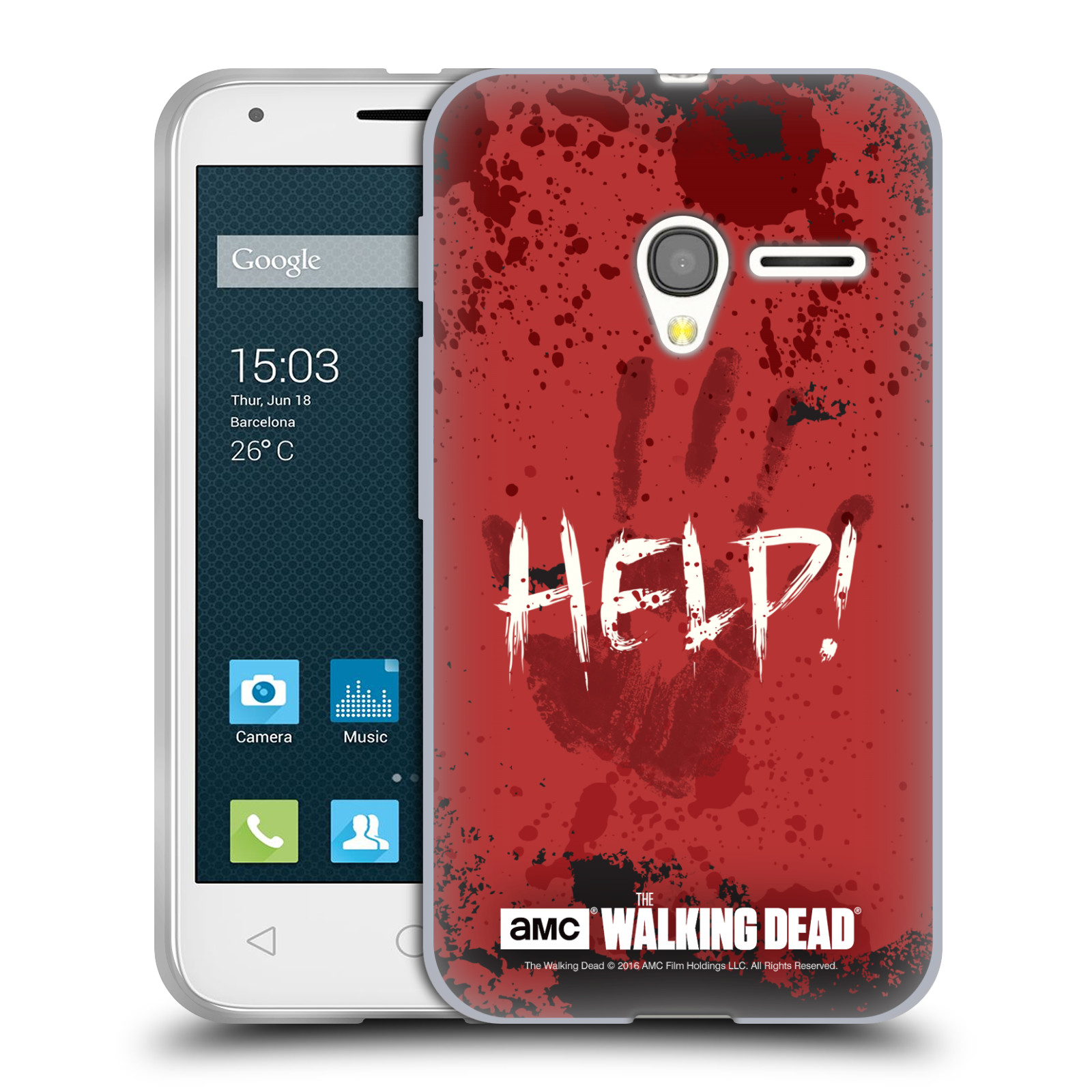 classic fit 614fb f3091 OFFICIAL AMC THE WALKING DEAD QUOTES SOFT GEL CASE FOR ALCATEL PHONES