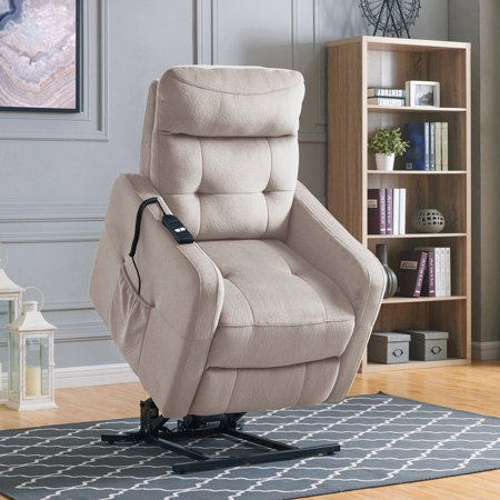 Lucie Power Recliner and Lift Chair in Platinum