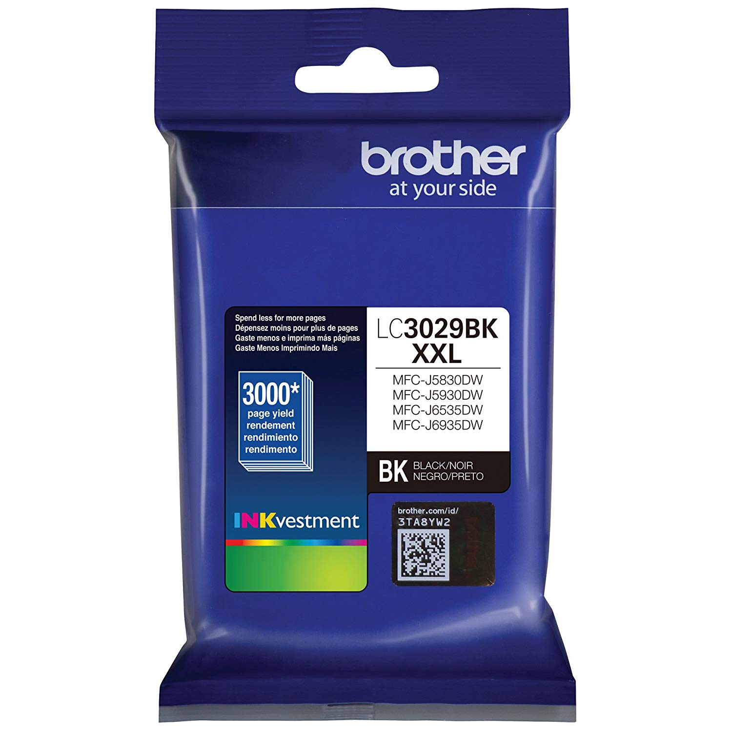 Brother Genuine Super High-Yield Black Ink Cartridge (LC3029)