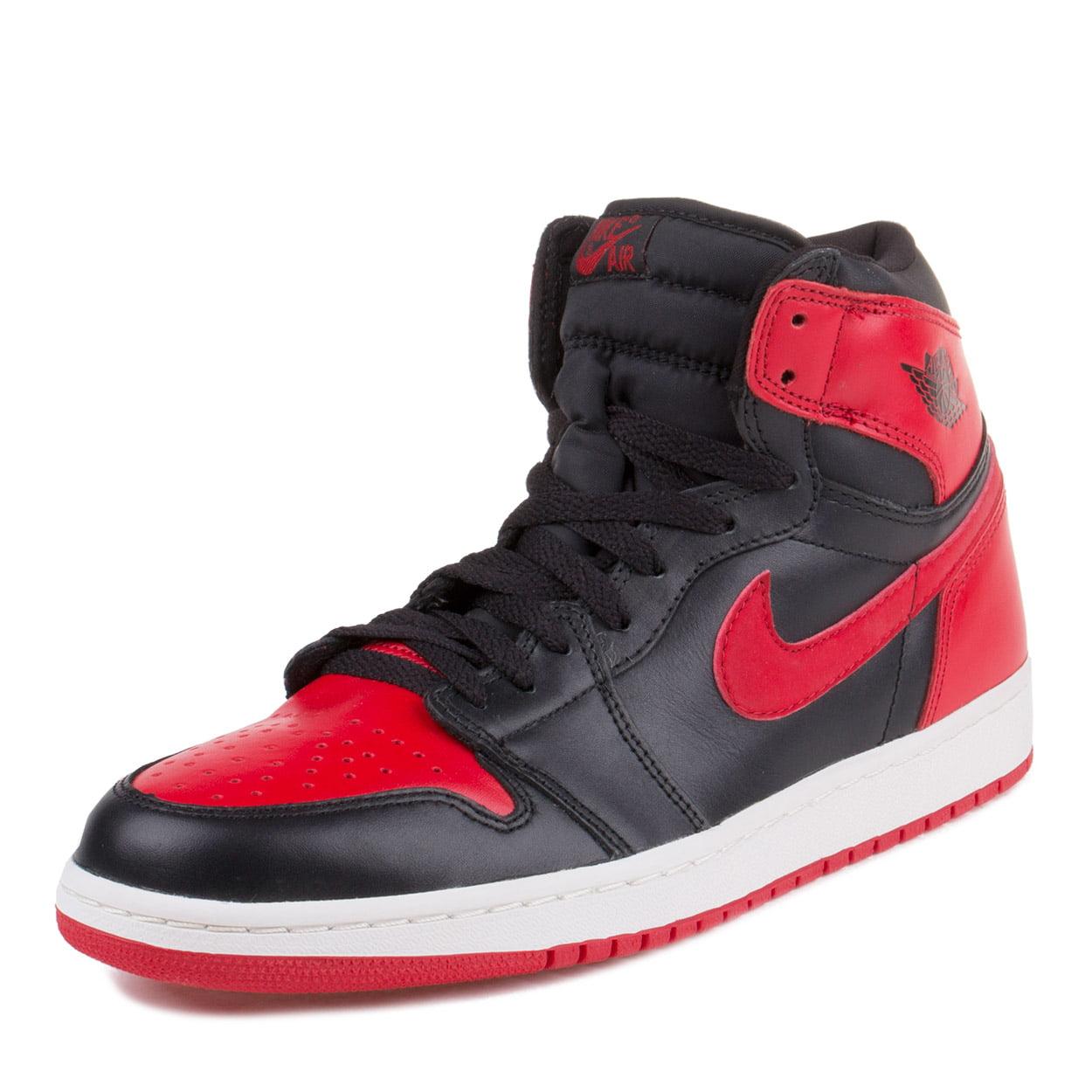 "Nike Mens Air Jordan 1 Retro ""2001 Bred"" Black/Varsity Re..."