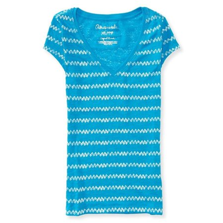 Aeropostale Womens Sheer Burnout Graphic T-Shirt