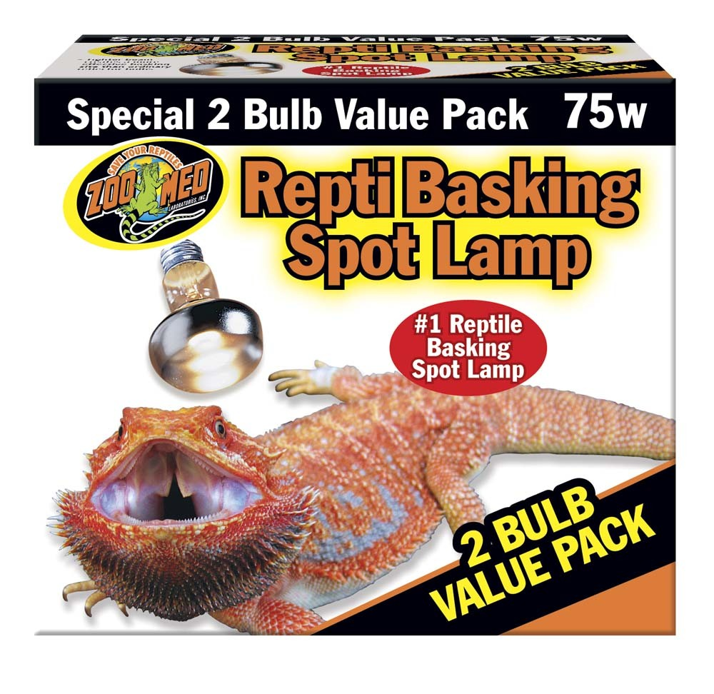 Zoo Med Repti Basking Spot Lamp 2 Bulb Value Pack, 75 Watt by Zoo Med Laboratories Inc