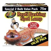 Zoo Med Repti Basking Spot Lamp 2 Bulb Value Pack, 75 Watt