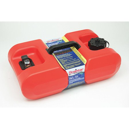 SCEPTER MARINE 10506 3 gal Red Polyethylene Portable Fuel Tank
