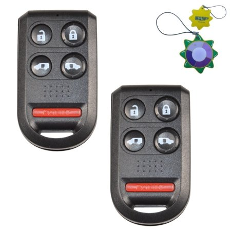 HQRP 2-Pack Keyless Entry Fob Remote Shell Case w/5 Buttons for Honda Odyssey 2005 2006 2007 2008 2009 2010 + HQRP UV Meter ()
