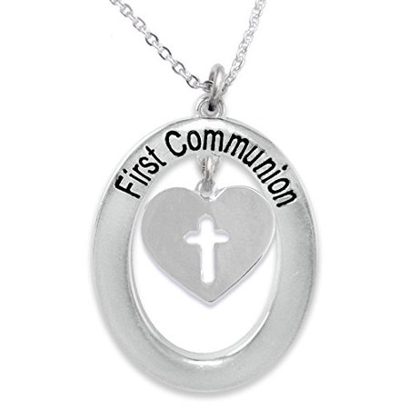 First Communion Cross Necklace - The Perfect Gift First Communion Hypoallergenic Children's Necklace, Safe-Nickel, Lead, & Cadmium Free!