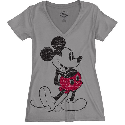 56368f22 Disney - Women's Plus-Size Retro Mickey Mouse Graphic Tee - Walmart.com