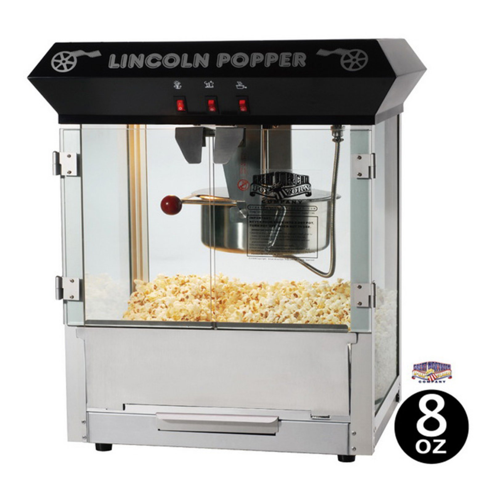Great Northern Popcorn 6015 Lincoln Antique Popcorn Maker