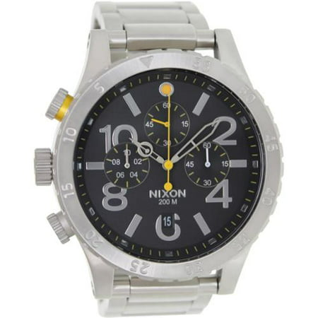 Nixon Men's 48-20 Chrono A486000 Silver Stainless-Steel Quartz Watch