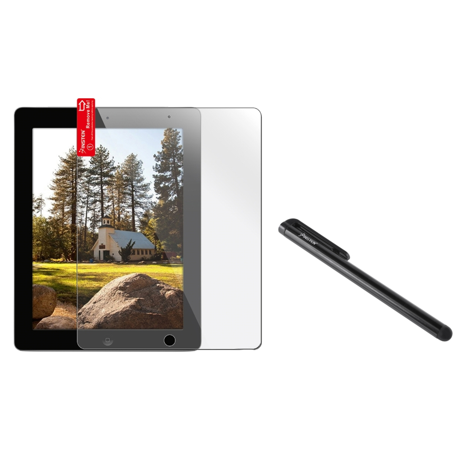 Insten 2X Clear LCD Screen Guard Cover for iPad 4 4th 32 Retina Display+Stylus (3-in-1 Accessory Bundle)