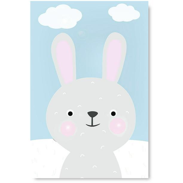 Funny Bunny Nursery Wall Art Decor