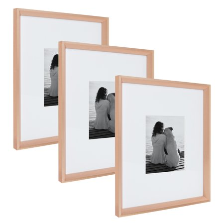 kate and laurel calter modern wall picture frame set rose gold 16x20 matted to 8x10 pack of 3. Black Bedroom Furniture Sets. Home Design Ideas
