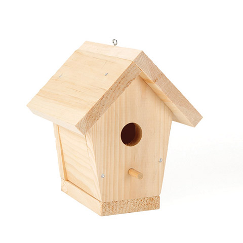 Unfinished Wood Birdhouse Tapered 8.8 x 7.5 x 7.4 inches by Darice Inc.