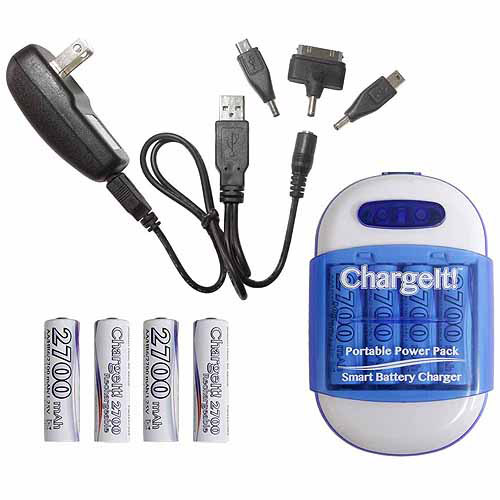 PC Treasure 08857 ChargeIt Portable Powerbank Pack, Blue