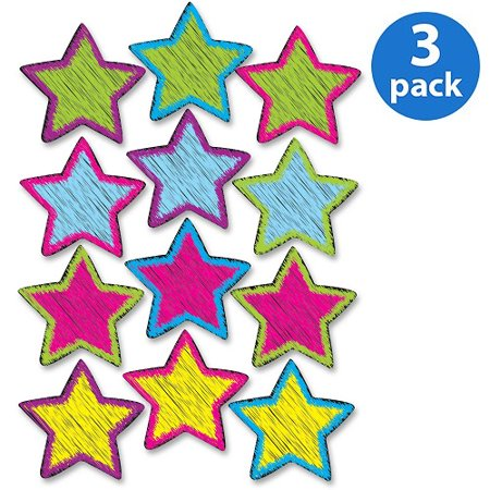 (3 Pack) Ashley, ASH10086, Scribble Star Design Dry-erase Magnet, 1 Set, - Scribble Stars