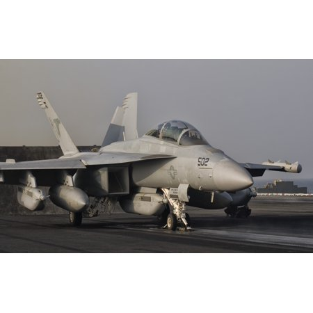 An Ea 18G Growler Aboard Uss George Hw Bush Canvas Art   Giovanni Collastocktrek Images  36 X 23