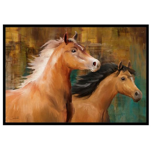 Horse Duo Doormat by Caroline's Treasures