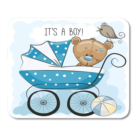KDAGR Toy Its Boy Baby Carriage and Teddy Bear Animated Babies Ball Bird Mousepad Mouse Pad Mouse Mat 9x10 inch