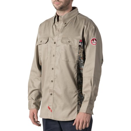 Walls Fr Mens Flame Resistant Oilfield Camo Work Shirt  Hrc Level 2