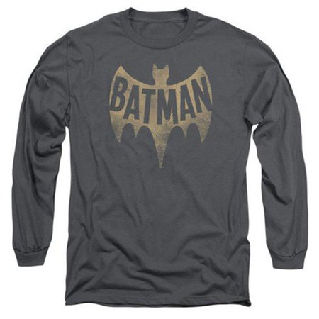 Batman Classic Tv-Vintage Logo - Long Sleeve Adult 18-1 Tee - Charcoal, Small - image 1 de 1