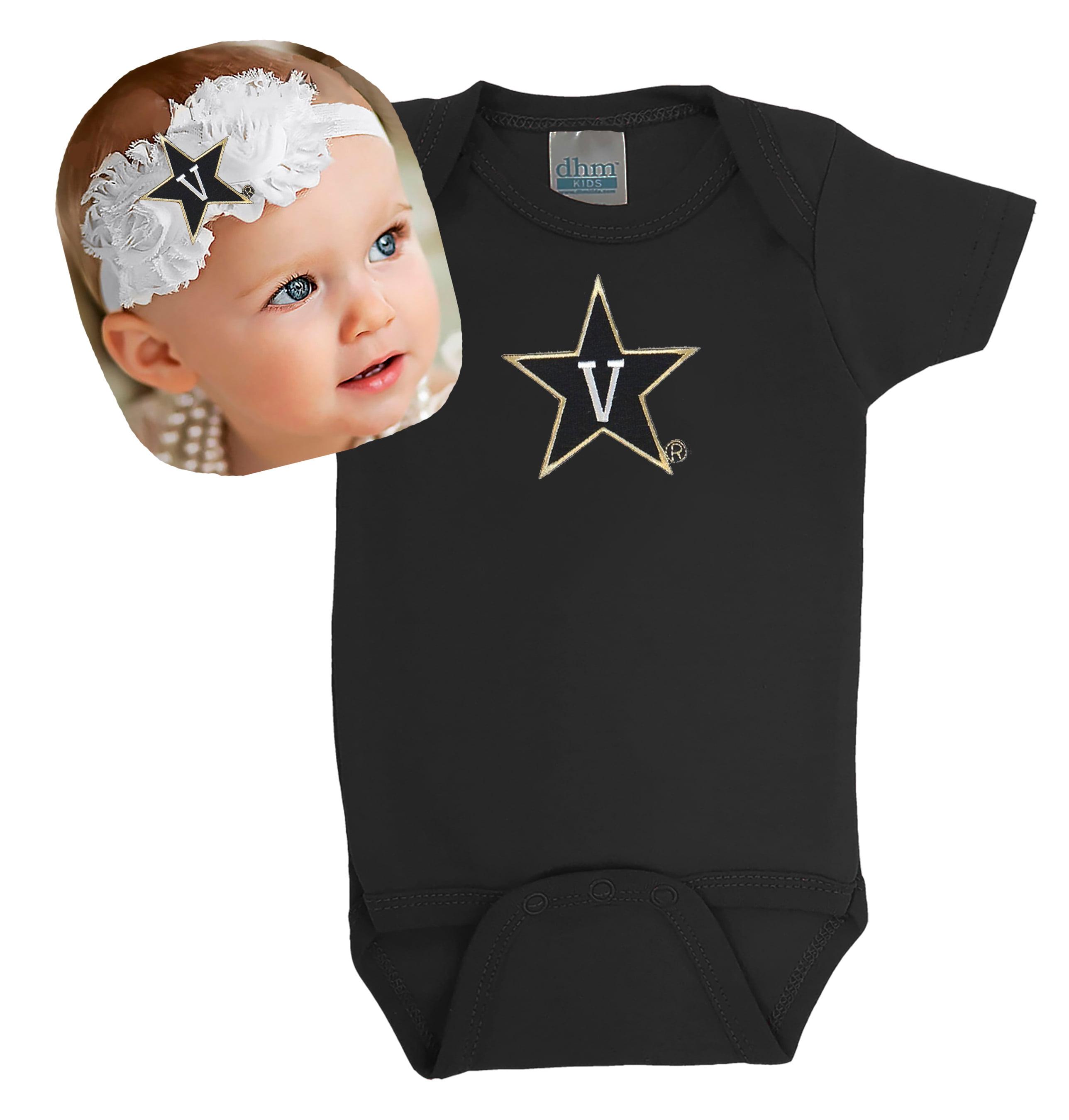 Vanderbilt Commodores Baby Bodysuit and Shabby Flower Headband Set