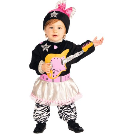 Infant Lil' Rock Star 80s Baby Girl Halloween Costume
