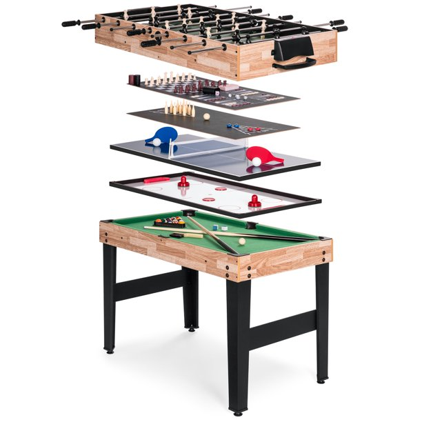 Best Choice Products 10-in-1 Game Table with Foosball, Pool, Shuffleboard, Ping Pong, Hockey, and More