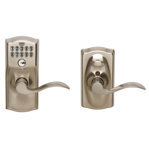 Schlage FE595VCAM619ACC Satin Chrome Accent Entry Lever Keypad Lock by Freud