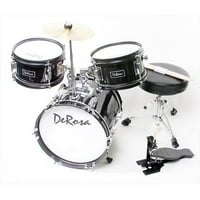 De Rosa DRM312-MPK 12 in. Kids Children Drum Set in Pink - 3 Piece Set
