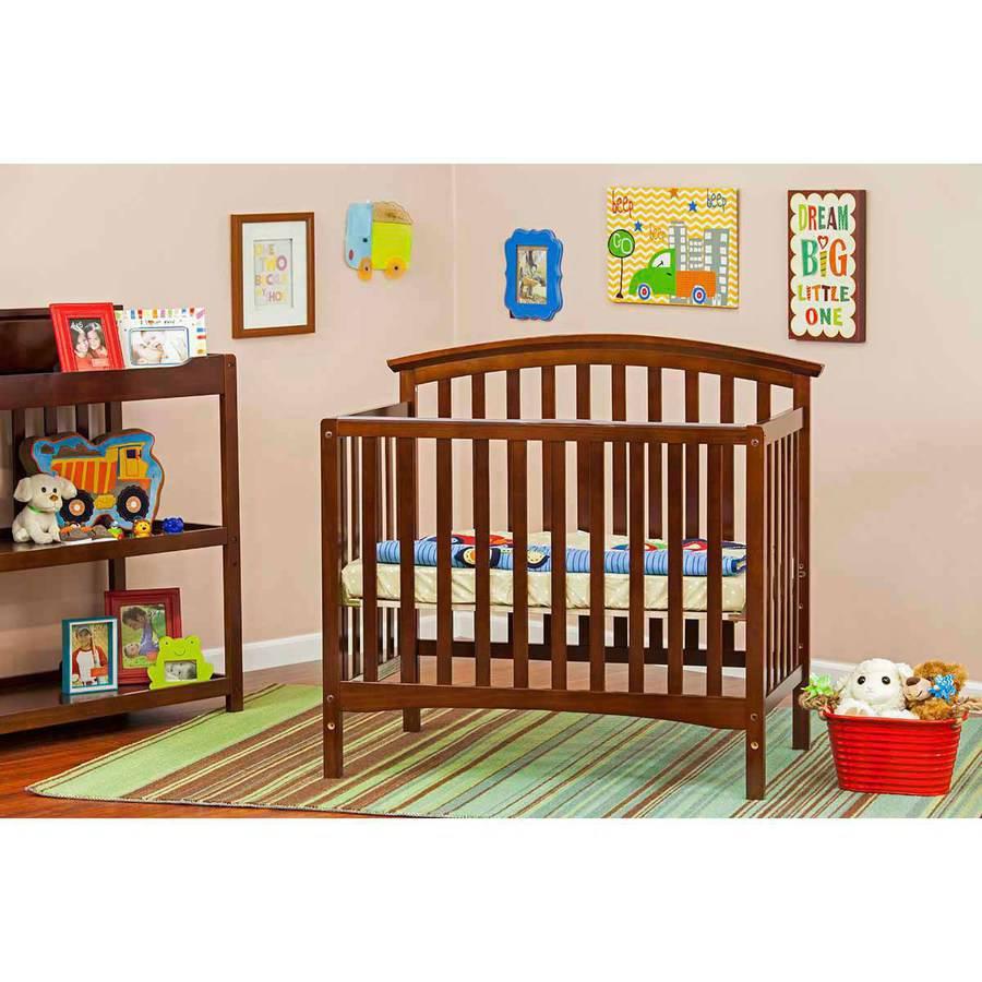 Dream On Me Ashland 4-in-1 Convertible Mini Crib, Espresso